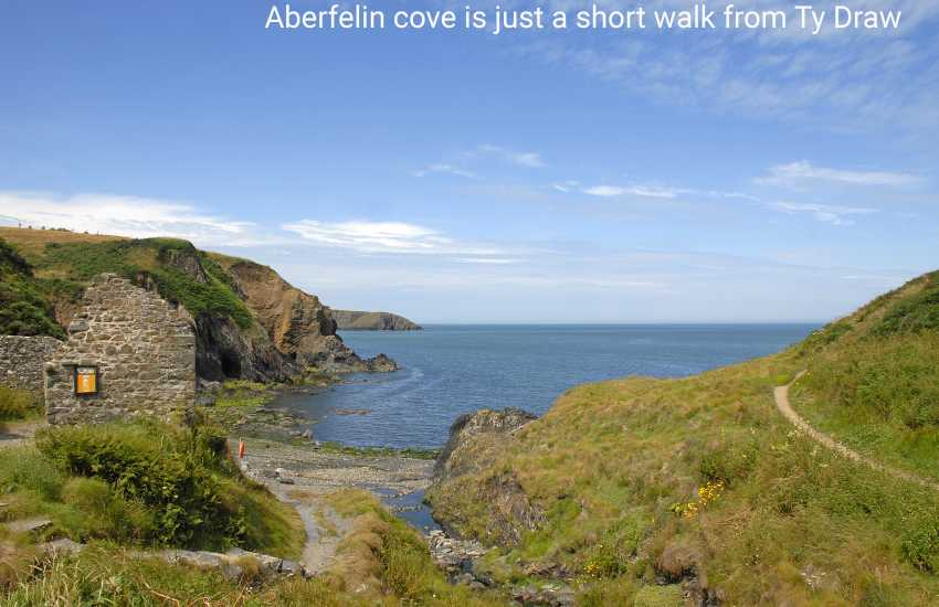 Aberfelin - a secluded little rocky cove just a few minutes walk down the hill from the village of Trefin