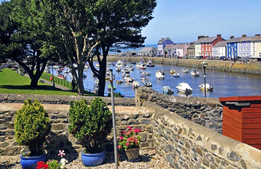 Enjoy fabulous views over Aberaeron's harbour from 'Bronallt'