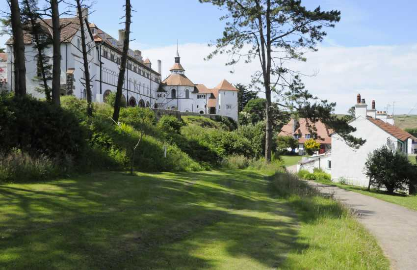 Caldey Island visitors are welcome in this haven of peace and tranquillity where they can picnic on the lovely beaches, explore the countryside and visit parts of the Grade II listed monastery