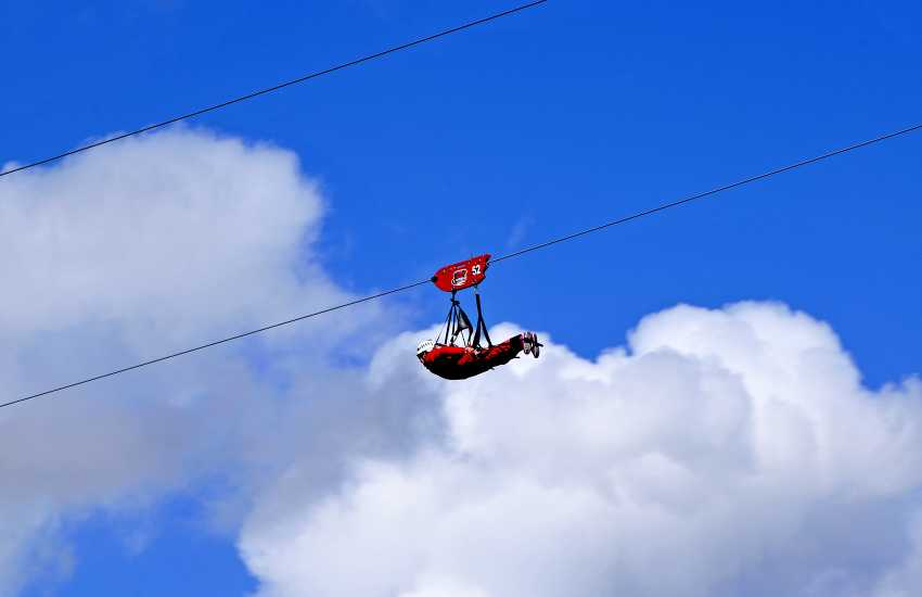 Zip world try riding the longest Zip Wire at 100 mph over the Snowdonia countryside