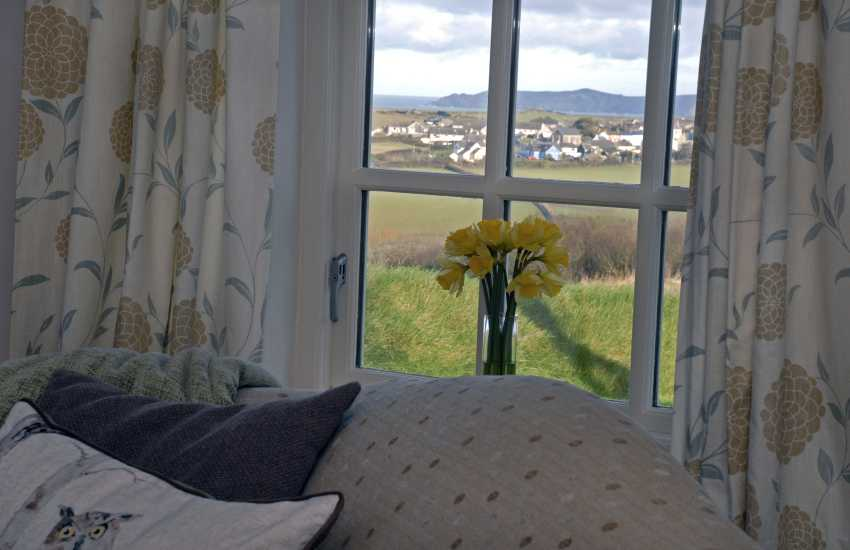 Views to Trefin and Strumble head from the living room