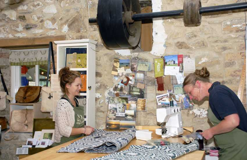 Solva Woollen Mill - the oldest working woollen mill in Pembrokeshire specialising in woven floor rugs and carpets and open all year round