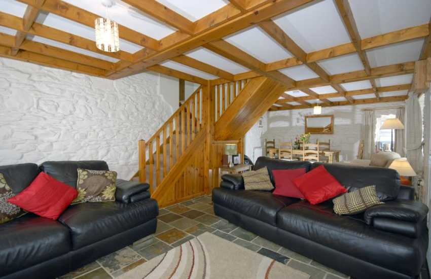 Pembrokeshire holiday cottage near Abercastle - open plan lounge/diner