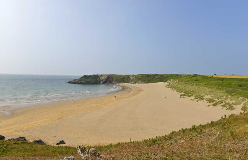 After the walk through Bosherston Lily Ponds you arrive at this beautiful and quiet beach Broad Haven South