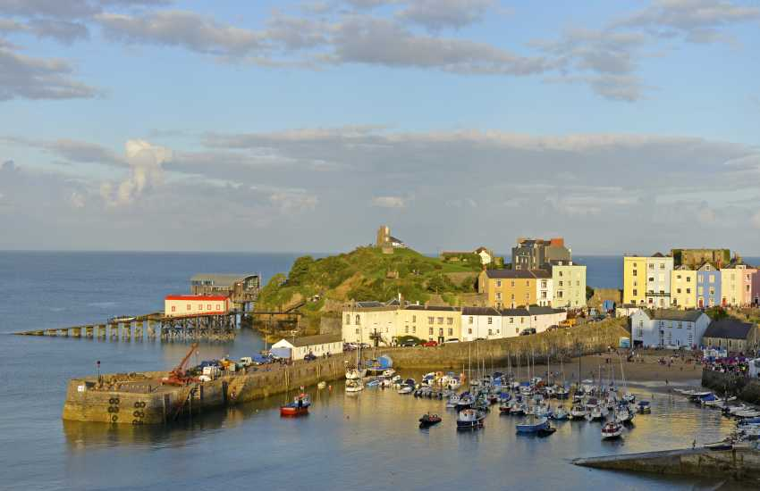Tenby - a popular seaside resort with picturesque harbour and five glorious sandy beaches to choose from