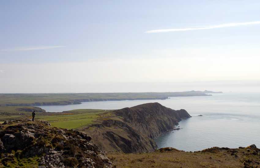 Walking the Pembrokeshire Coast Path at nearby Pwll Deri