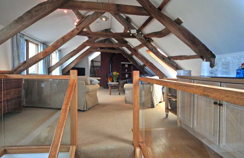Strumble Head farm penthouse - spacious open plan sitting/dining/kitchen