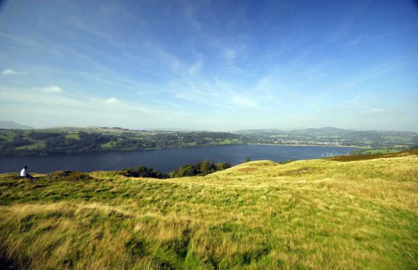 Bala Lake, hire canoes from the water sports centre and explore!