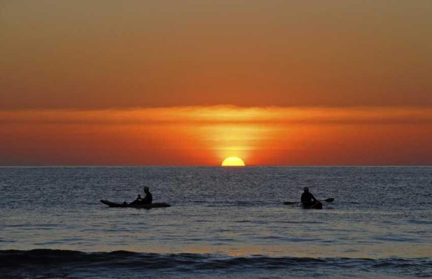 Sunset over Whitesands Beach