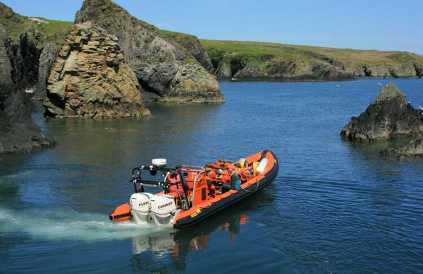 Boat Trips by Thousand Islands Expeditions, Voyages of Discovery, Ramsey Island Cruises and Venture Jet all explore the stunningly beautiful North Pembrokeshire Coast