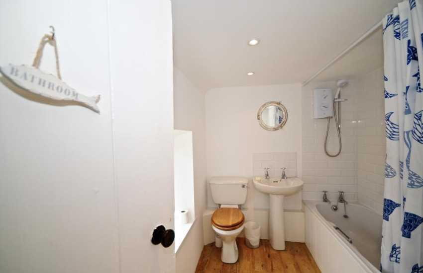 Bathroom at holiday cottage on the Lleyn Peninsula