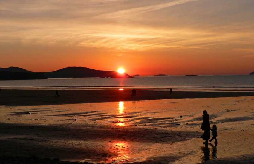 An evening stroll along Whitesands Beach. Pic by Jo Sime - The Bench, St Davids
