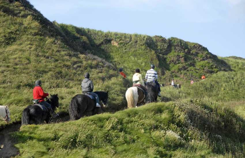 Preseli Hills pony trekking - Crosswell Riding Stables near Newport caters for beginners and the more experienced rider, you can even 'Own A Pony' for a day