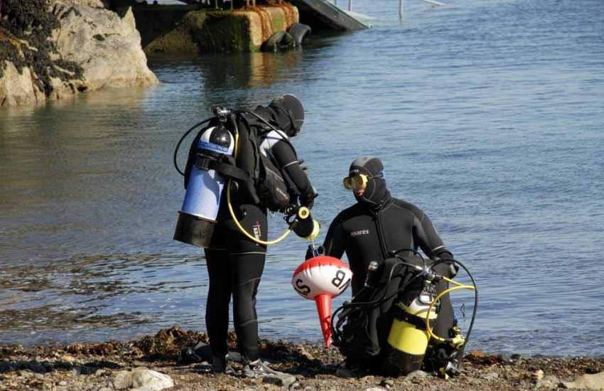 Celtic Diving, Goodwick offer Try dives for novices and can arrange a dive for more qualified divers