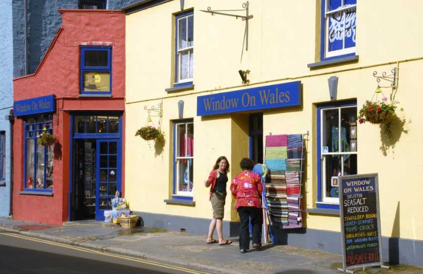 Window on Wales has two branches, Solva and St Davids. Filled with a wide variety of unusual gifts from pottery, books, toys and games to soft furnishings, clothing, hats, bags and wellies!