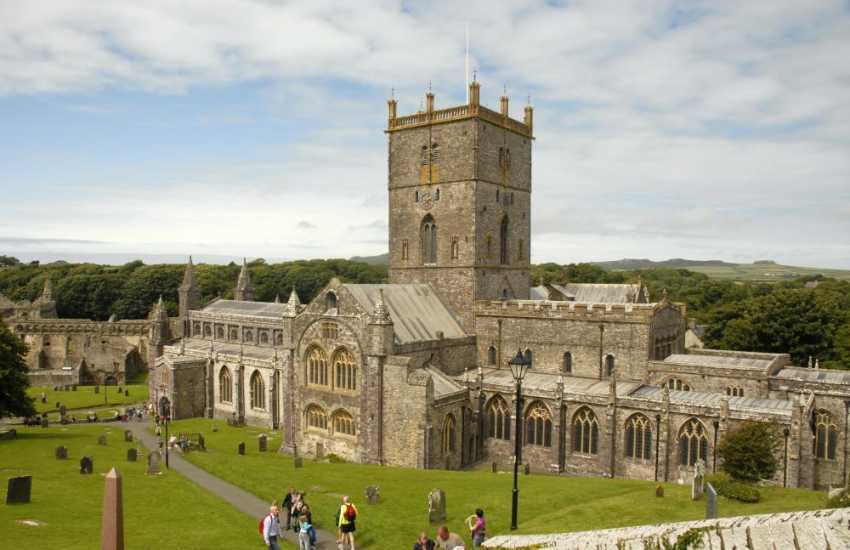 St Davids with the magnificent Cathedral is full of interesting little shops and also has a variety of places to eat