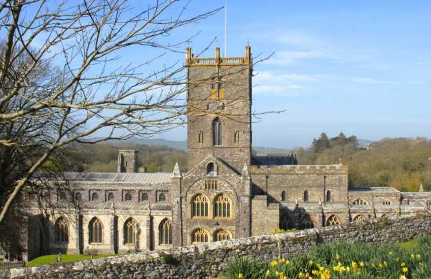 The magnificent St. Davids Cathedral nestled at the heart of this tiny city