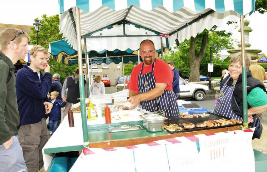 St Davids Country Market for mouth watering local produce is held in the square on Thursday mornings