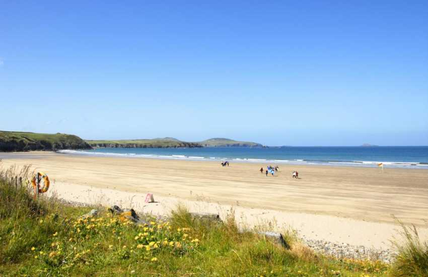 Whitesands Beach (Blue Flag) is popular with families and surfers