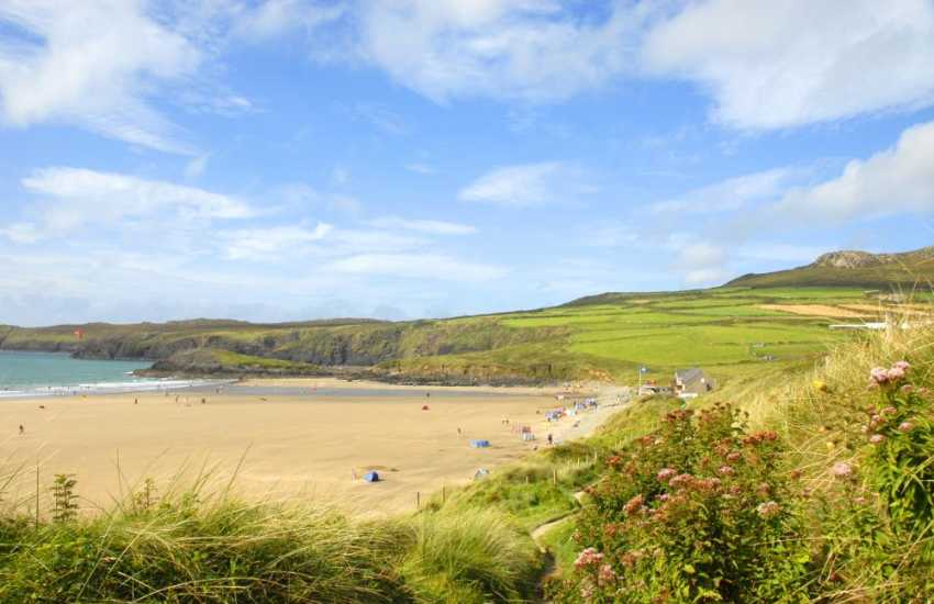 Whitesands Beach (Blue Flag) on the St Davids Peninsula is one of Pembrokeshire's finest beaches