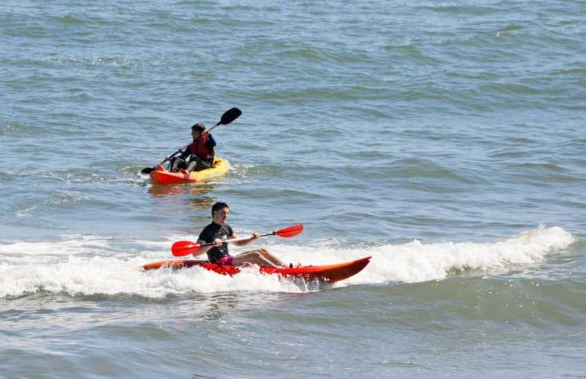 Whitesands Beach is a great location for sea kayaking or catching the waves on a surf board - a full hire service is available on the beach