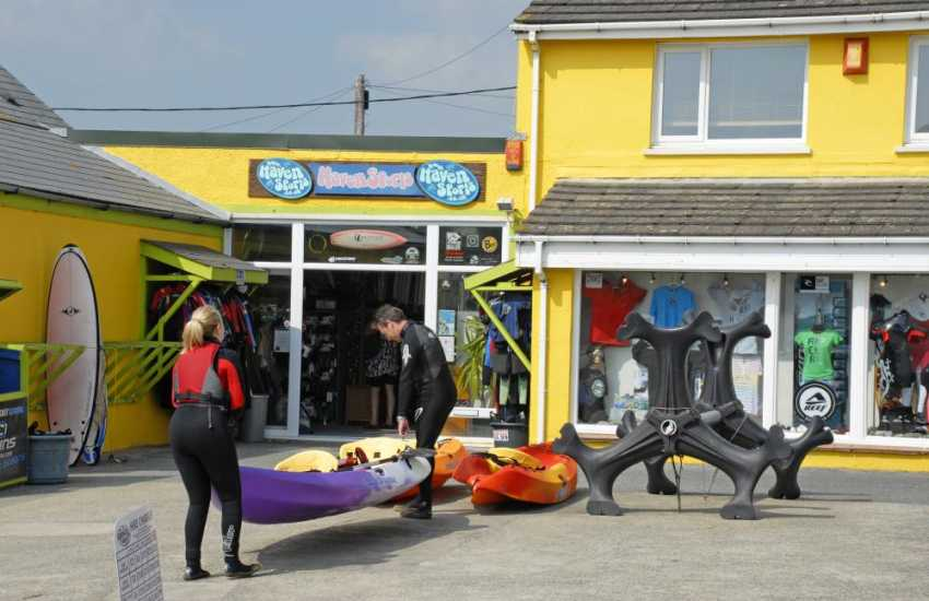 Haven Sports, Broad Haven, offer hire facilities for all sorts of activities - try a kayak for an hour or two