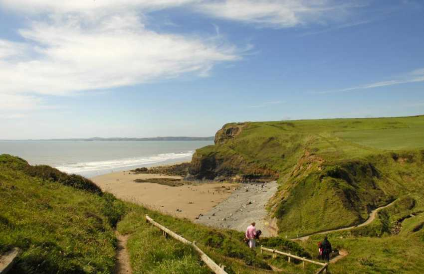 The Pembrokeshire Coast Path at Druidston Haven offers fabulous cliff top walking