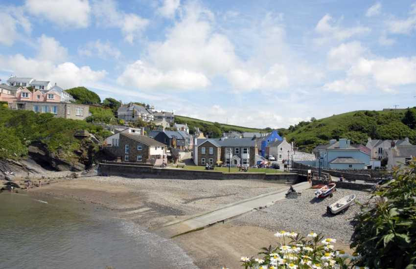 The picturesque village and beach at Little Haven