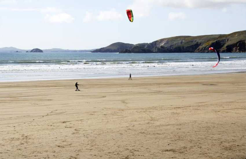 Newgale beach - a magnet for sea and beach sports