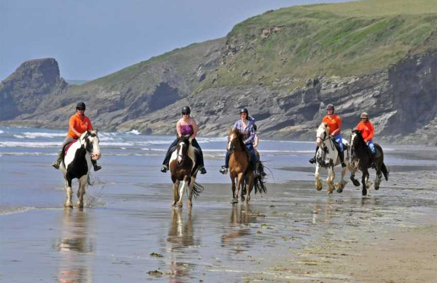 Nolton Riding Stables cater for beginners and experts - a gallop through the waves on Druidston is a truly magical experience