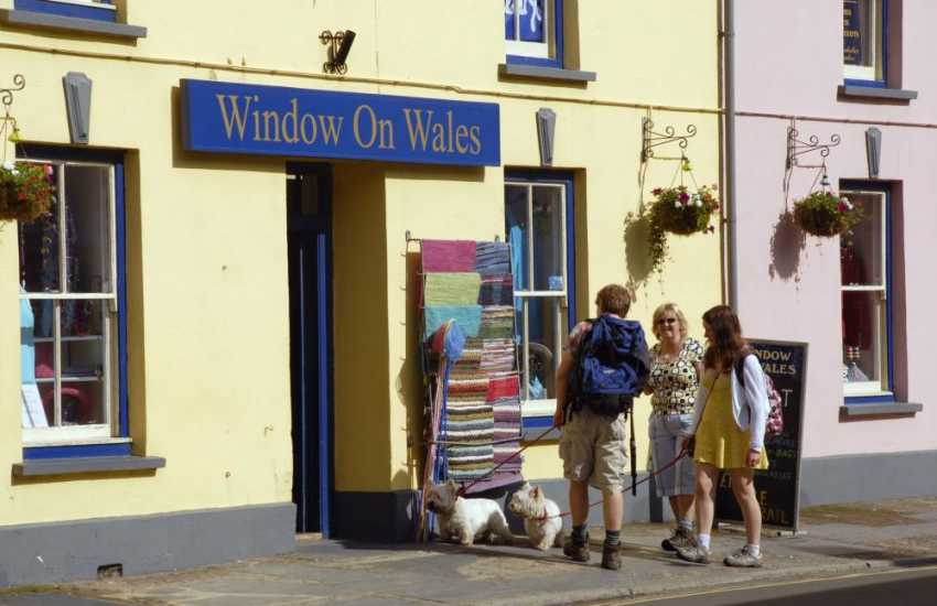 Window on Wales has two branches, Solva and St Davids. Both are filled with a wide variety of unusual gifts to choose  from ranging from jewellery, clothes and footwear to pottery, cards and soft furnishings