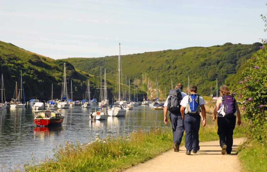 Walkers enjoying the peace and quiet of Solva Harbour