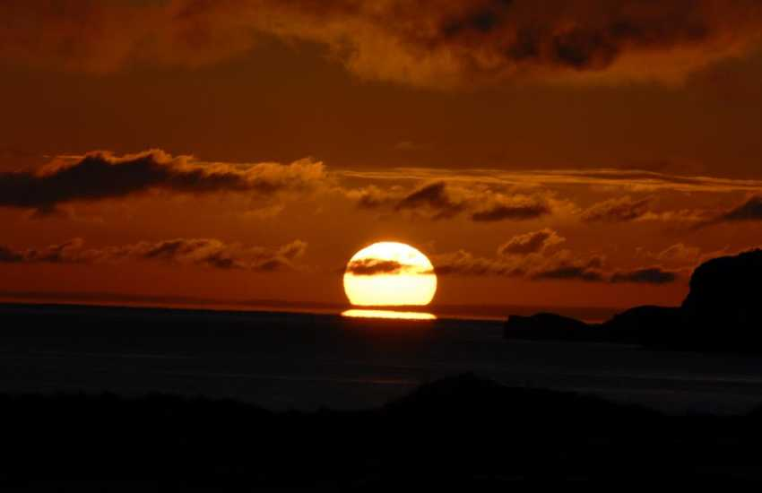 The sunsets over St Brides Bay can be breathtaking