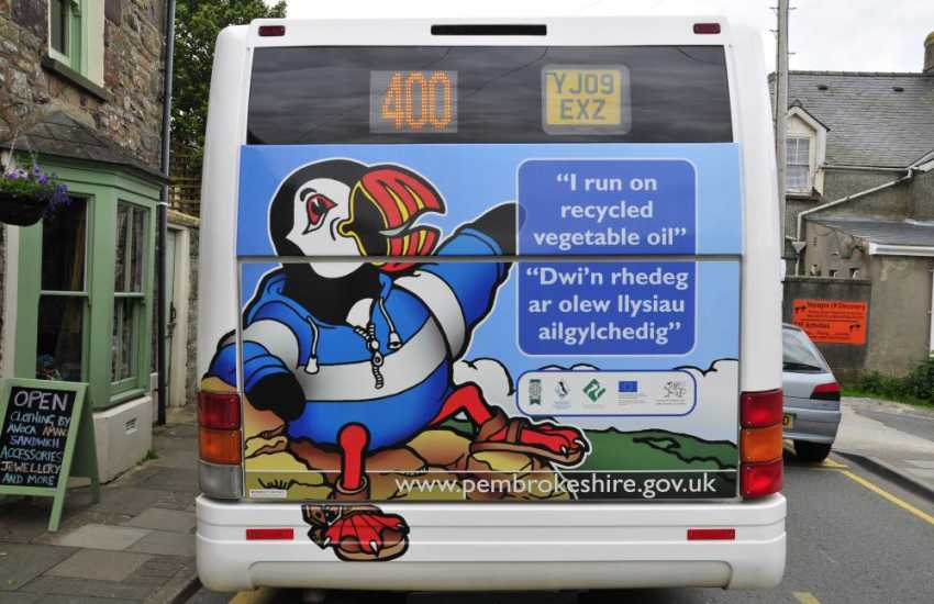 Hop on the 'Puffin Shuttle' in St Davids for a fun ride and fabulous views around the coastline. Other buses cover different stretches of the Pembrokeshire coastline