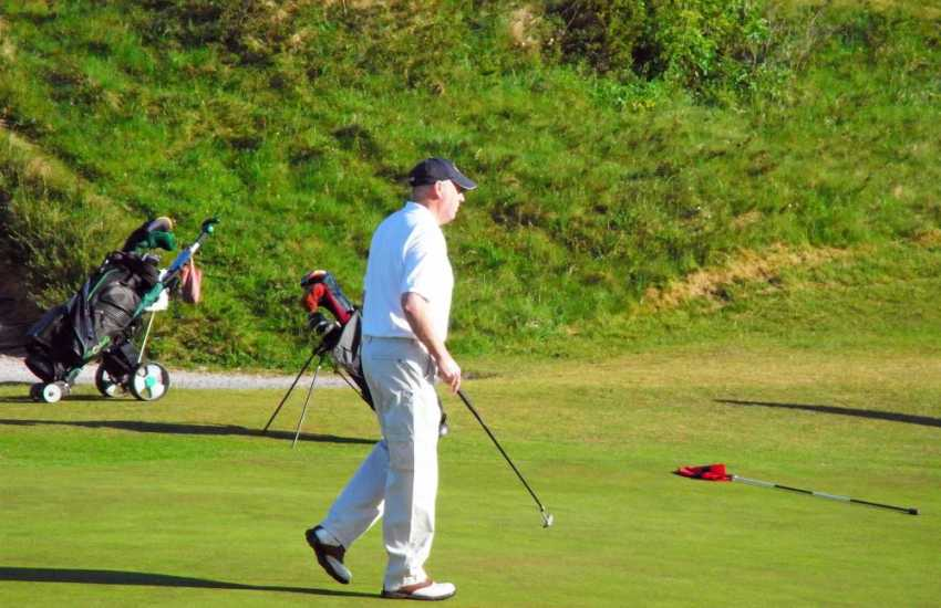 Priskilly Golf Club is a 9 hole challenging course set in picturesque mature parkland and home cooked meals are available in 'Y Cabin' Bar & Bistro