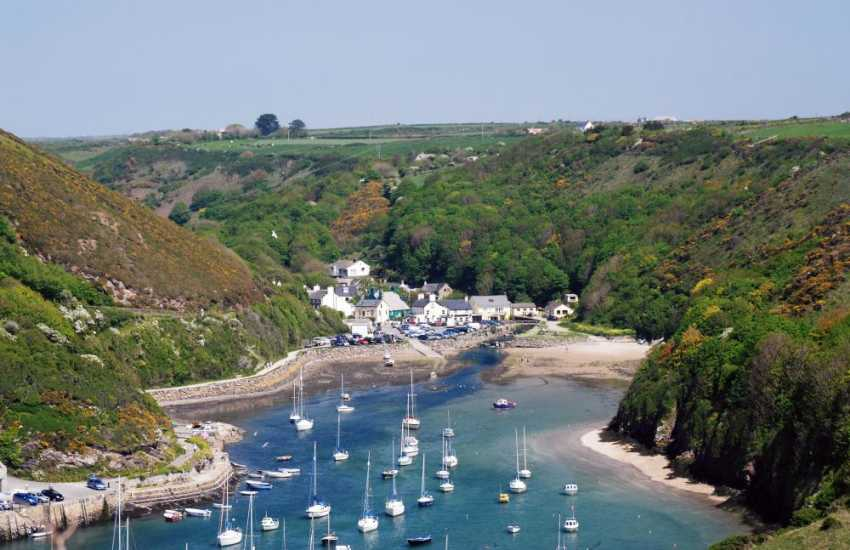 Solva's picturesque harbour, surrounded by the Pembrokeshire coast path.