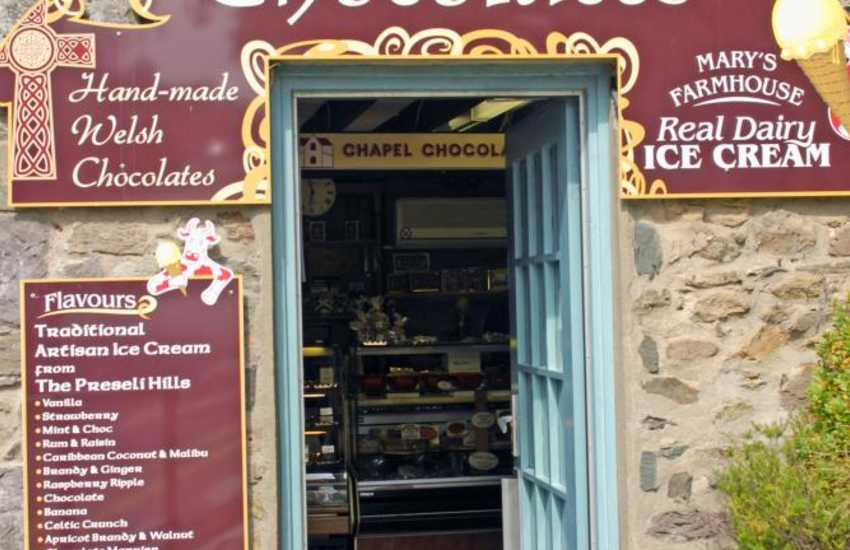 Chapel Chocolates, St Davids - one of Wales's finest chocolate shops selling over 100 different varieties of handmade chocolate and truffles