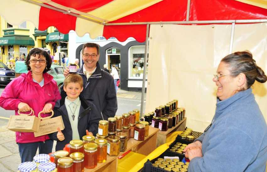 St Davids Country Market sells mouth watering local produce in The Square every Thursday during summer