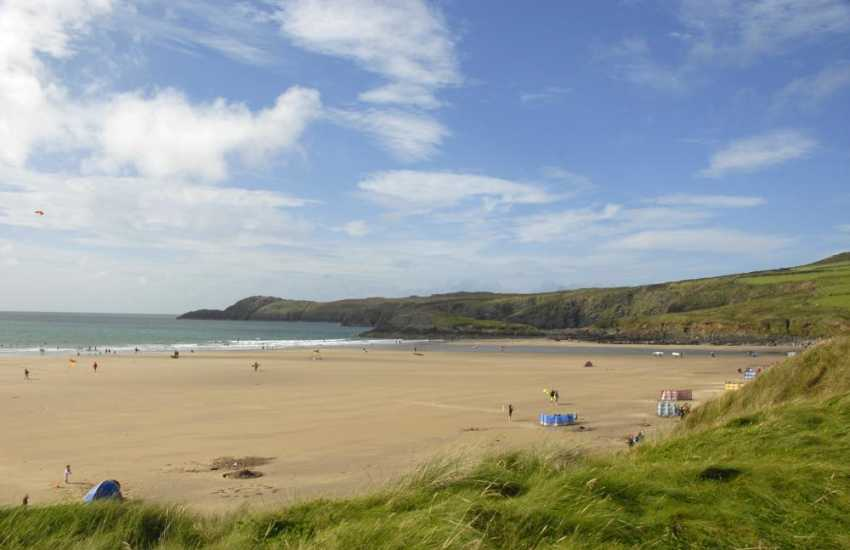 Whitesands Beach - a firm favourite with families, surfers and water sport enthusiasts