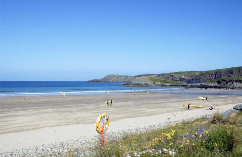 Nearby Whitesands Beach (Blue Flag) is rated one of the best beaches in Wales' - popular with families and surfers