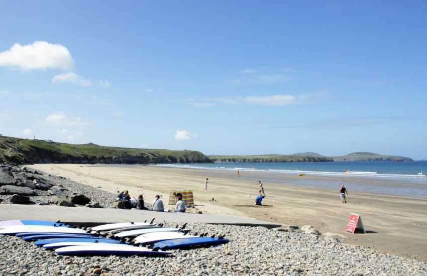 Whitesands Bay (Blue Flag) - a spectacular golden sandy beach only a 5 minute drive from St. Davids