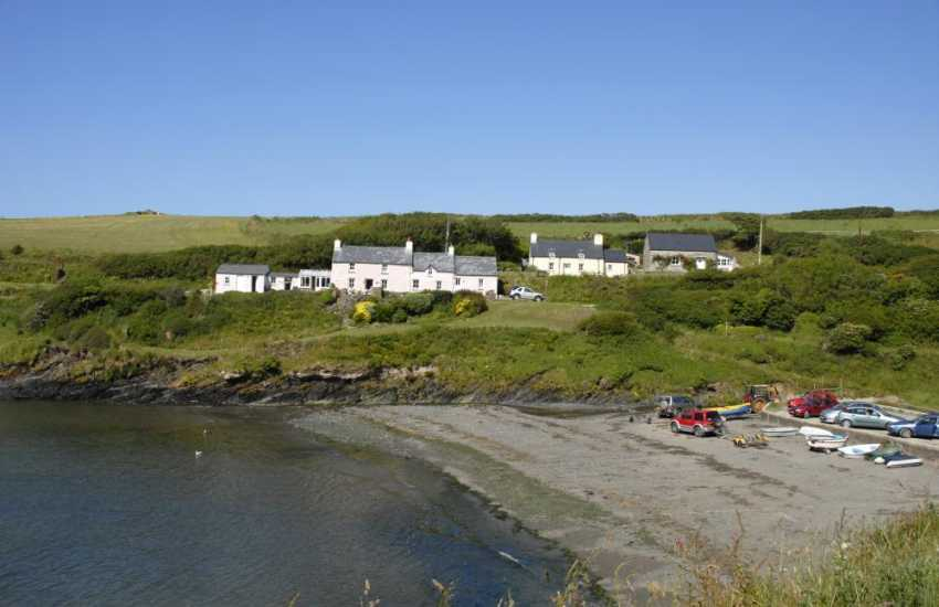 Abercastle is a small sheltered harbour - popular for diving, swimming, kayaking and fishing