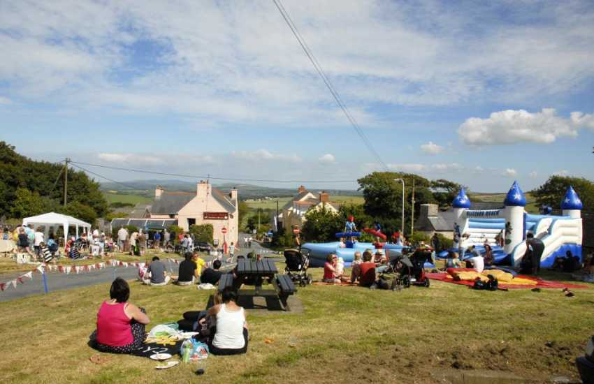 A summer fete in the nearby hilltop village of Mathry