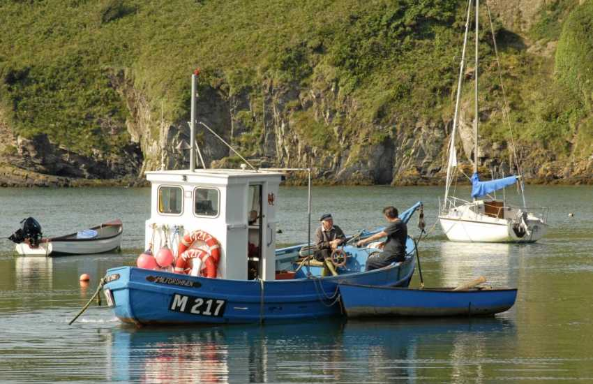 Solva - a small, picturesque harbour village with a variety of gift shops, pubs, cafes and restaurants - take a sightseeing or fishing trip from the quayside
