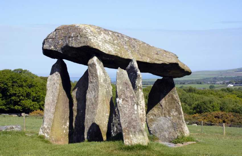 Pentre Ifan in the Preseli Hills is a Neolithic burial chamber dating back to 3000BC