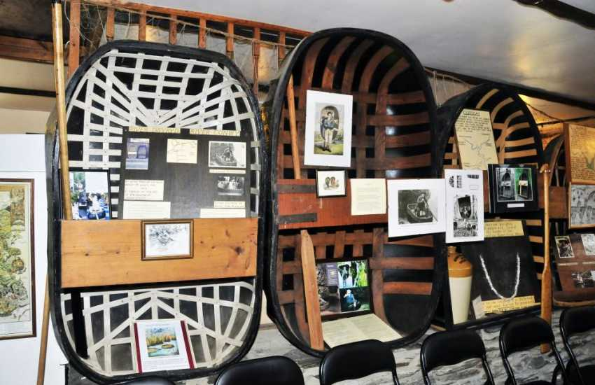 Picturesque Cenarth with spectacular falls and salmon leap is home to the National Coracle Centre Museum
