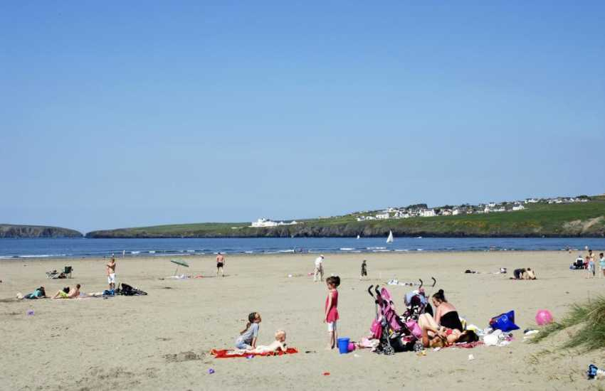 Poppit Beach (Blue Flag & SSSI) - a glorious expanse of golden sand popular with families and water-sports enthusiasts