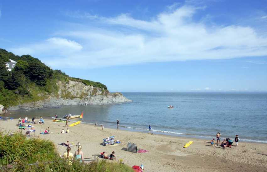 One of two gorgeous golden sandy beaches at Aberporth - only a short drive away along the coast.