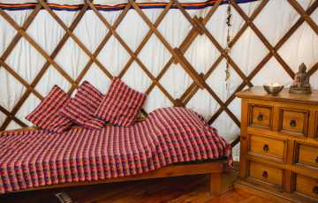 The Bentwood Yurt in Carmarthenshire