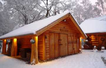 Bunk House In Snow